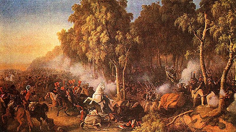 П. Гесс «Сражение под Красным 2-го августа».