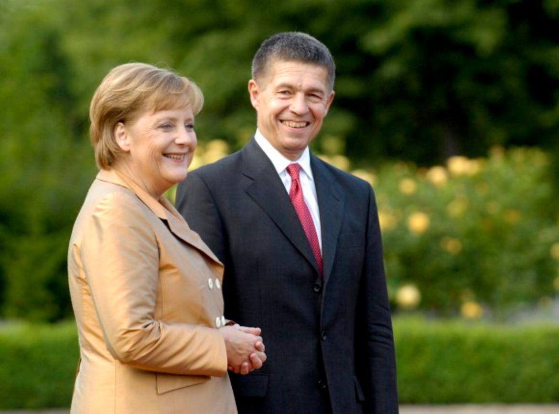 Ангела Меркель и её муж - Йохим Зауэр, учёный-химик.