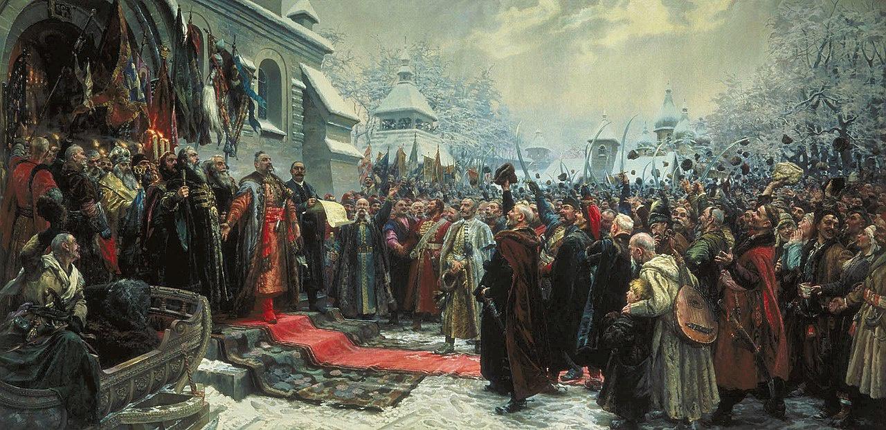 Война под предводительством Хмельницкого положила начало воссоединению западнорусских земель с исторической родиной.