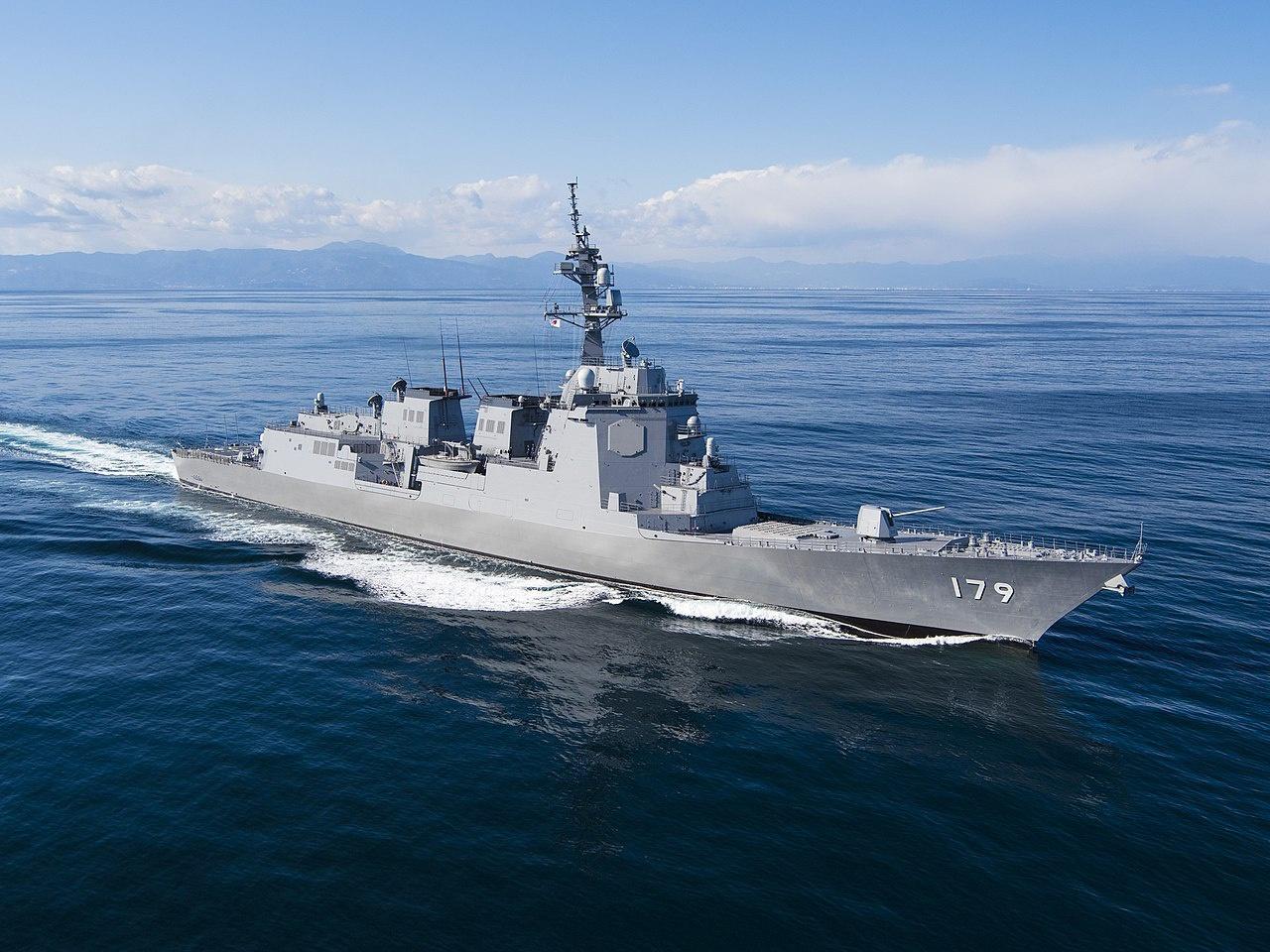 Эсминец Maya морских сил самообороны Японии с обновлённой боевой системой Aegis.