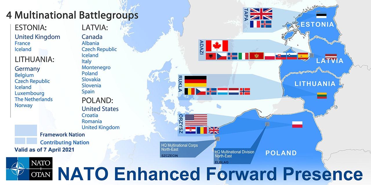 Расширение присутствия войск НАТО у российских границ.