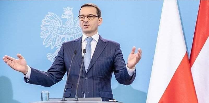 Премьер-министр Матеуш Моравецкий говорит, что заявление Путина - попытка России отвлечь внимание от собственных неудач.