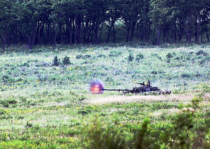 Танкисты общевойсковой армии поразили свыше 500 мишеней.