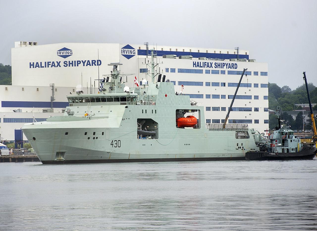 31 июля 2020 года Королевский флот Канады принял арктический корабль HMCS Harry DeWolf.