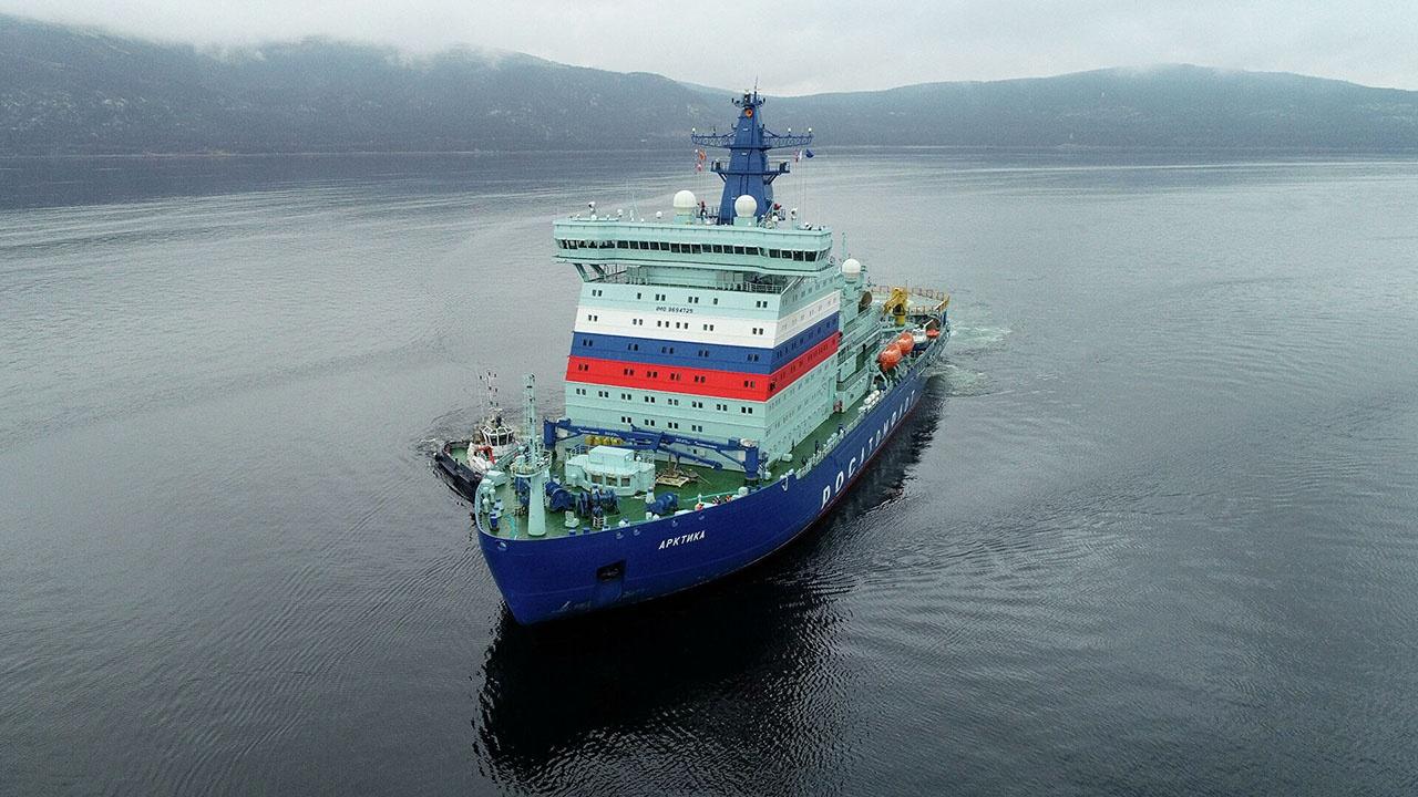 Атомный ледокол «Арктика» проекта 22220 уже введён в строй.
