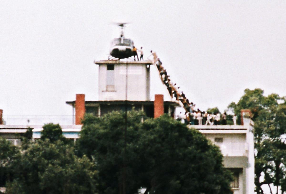 Эвакуация из Сайгона в апреле 1975 года.