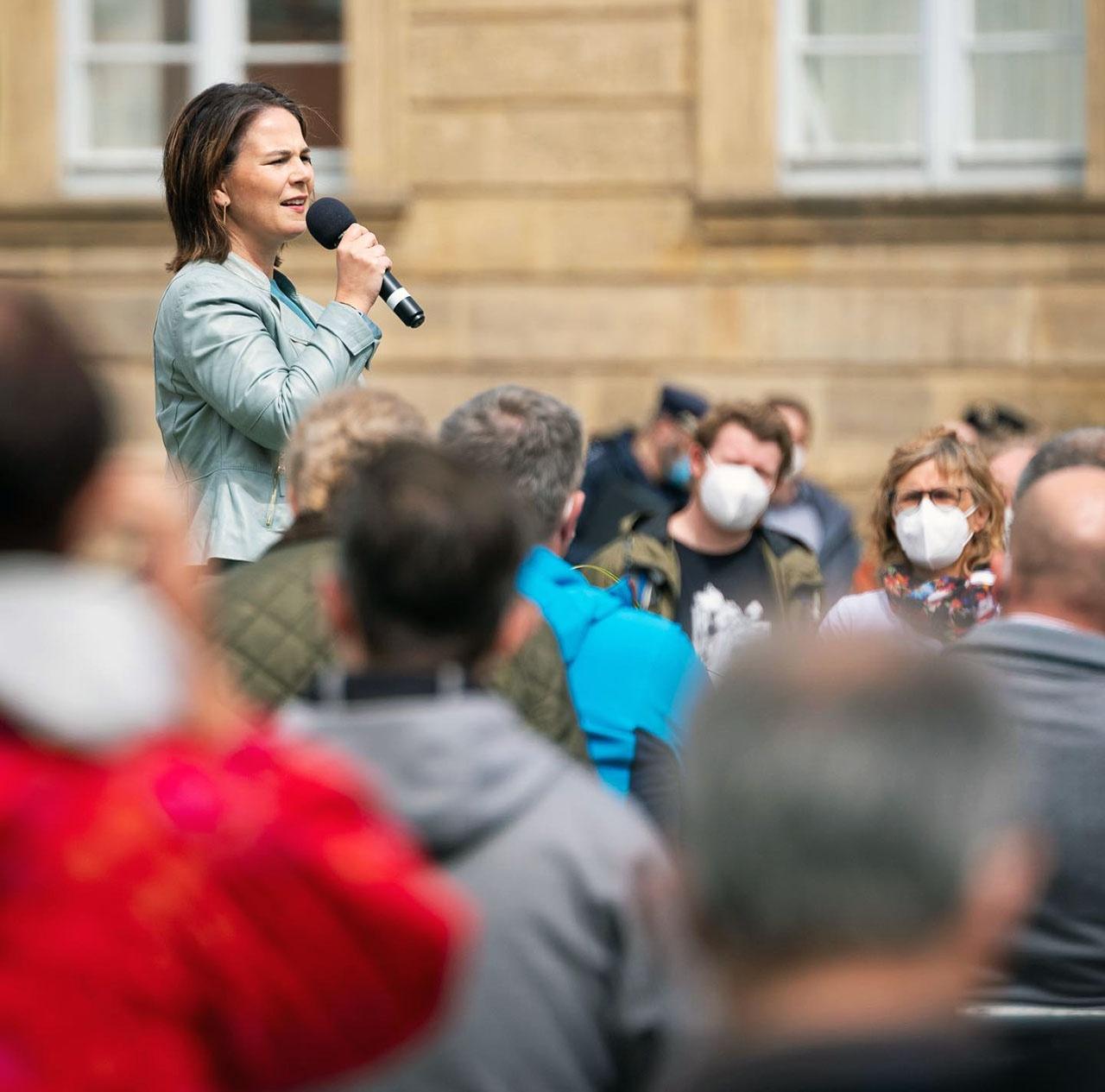 Кандидат в канцлеры от партии «Союз 90»/«зелёные» Анналена Бербок.