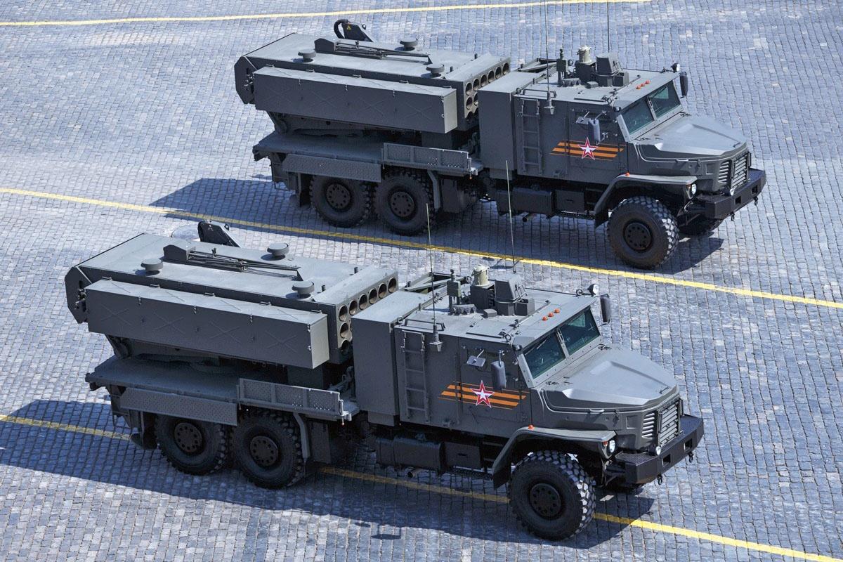Новейшая тяжёлаяогнемётнаясистемаТОС-2 «Тосочка».