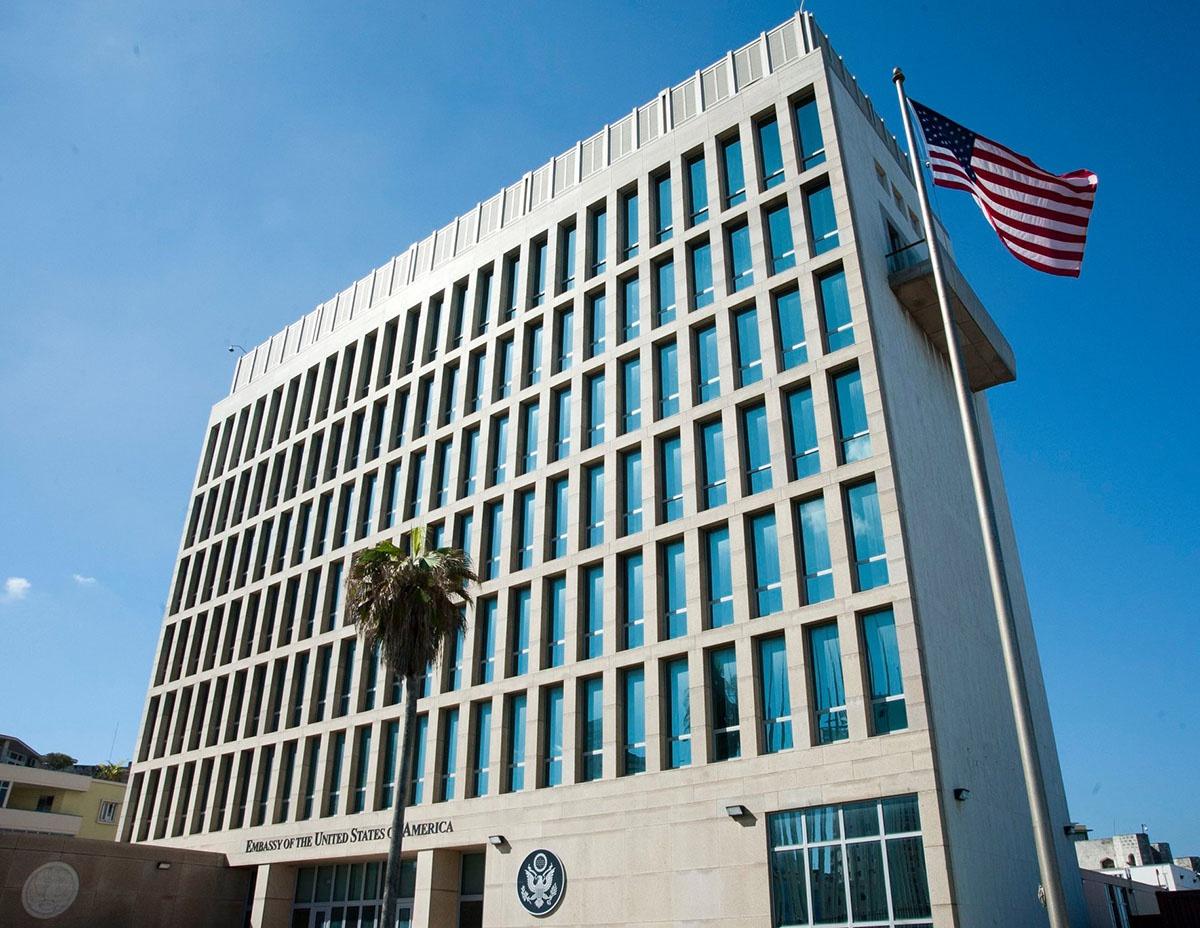 Посольство США в Гаване, где впервые обнаружили эффект воздействия на сотрудников ЦРУ и Госдепартамента.