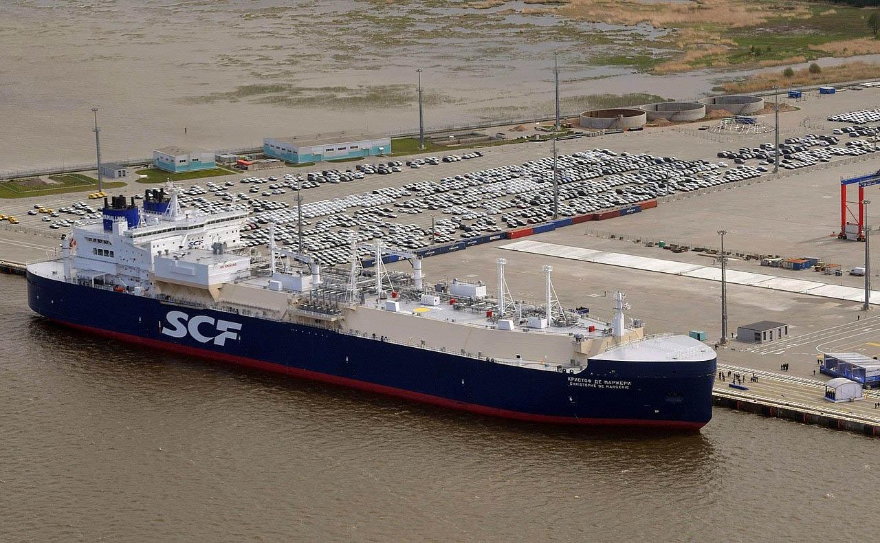 Ледокольный танкер для перевозки сжиженного природного газа Christophe de Margerie предназначен для перевозки газа с проекта «Ямал СПГ».