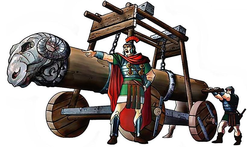 Баран - так называлось древнее стенобитное орудие, таран.