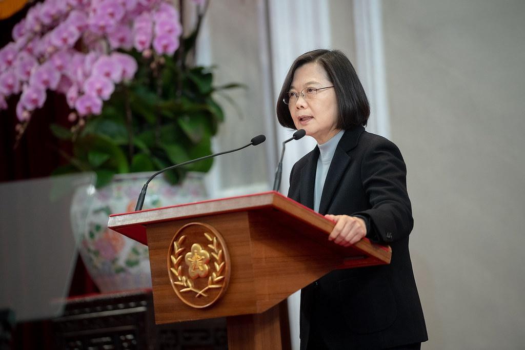 Президент Тайваня Цай Инвэнь и её Демократическая прогрессивная партия выступает за полную независимость Тайваня.