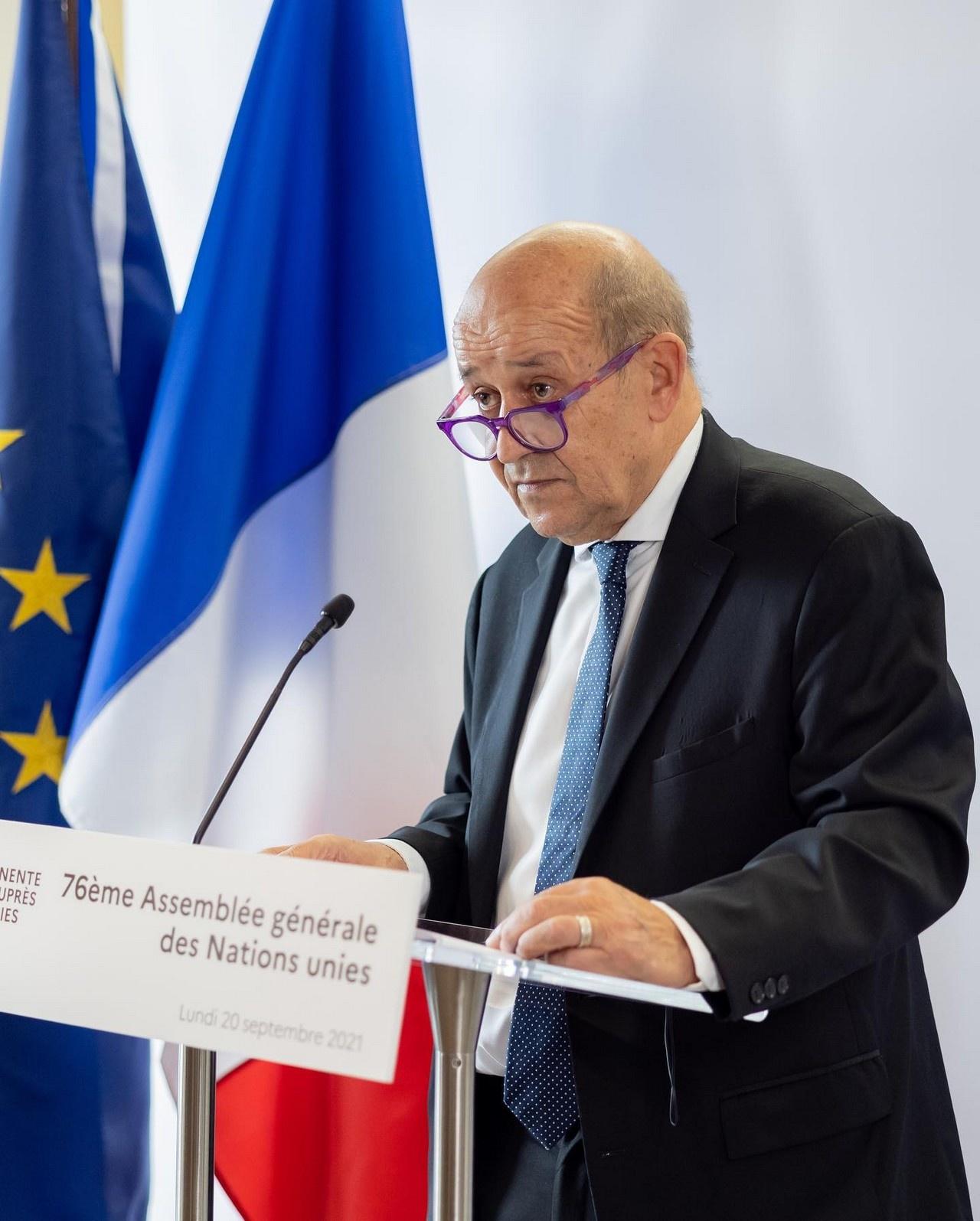 Ле Дриан на пресс-конференции на полях сессии Генассамблеи ООН в Нью-Йорке говорил о «потере доверия между союзниками».
