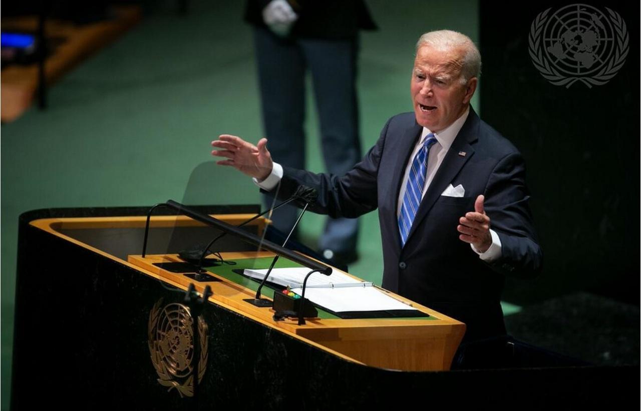 Президент Джо Байден выступает на Генассамблее ООН.