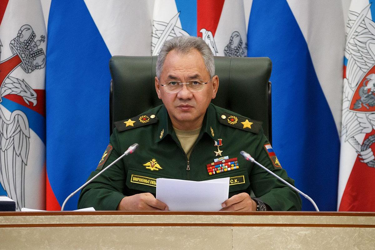 Министр обороны Российской Федерации генерал армии Сергей Шойгу на заседании Коллегии Министерства обороны РФ.