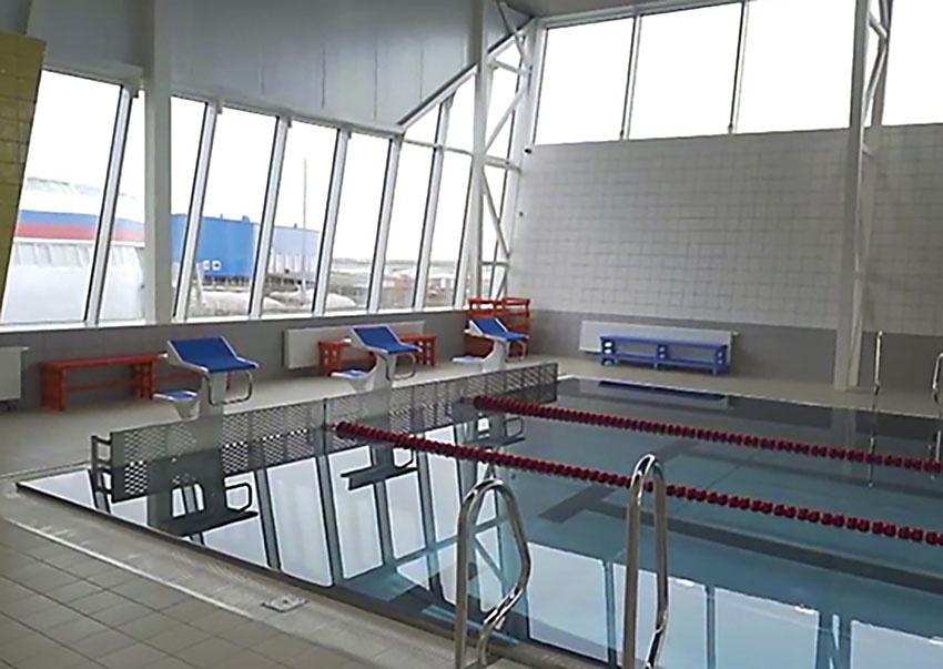 На военной базе Минобороны России в Арктике построен самый северный в мире крытый плавательный бассейн.