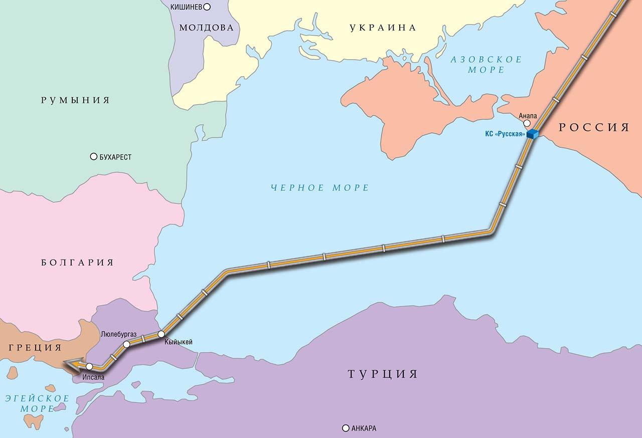 Поставки газа в Венгрию будут осуществляться по «Турецкому потоку» в обход Украины.