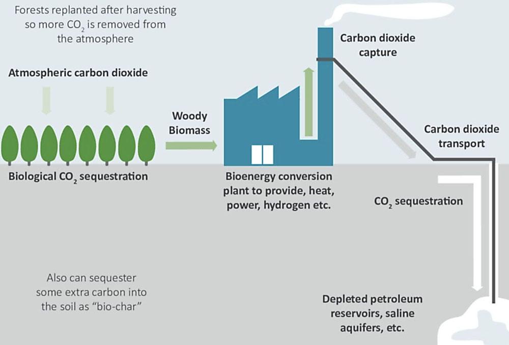 В качестве решения проблемы по предотвращению чрезмерного выброса углерода предлагается «спасительная» технология BECCS.