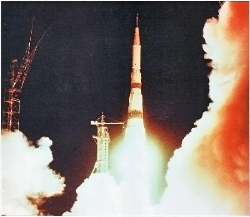 Испытательный запуск ракеты-носителя Н1 в рамках лунной программы.