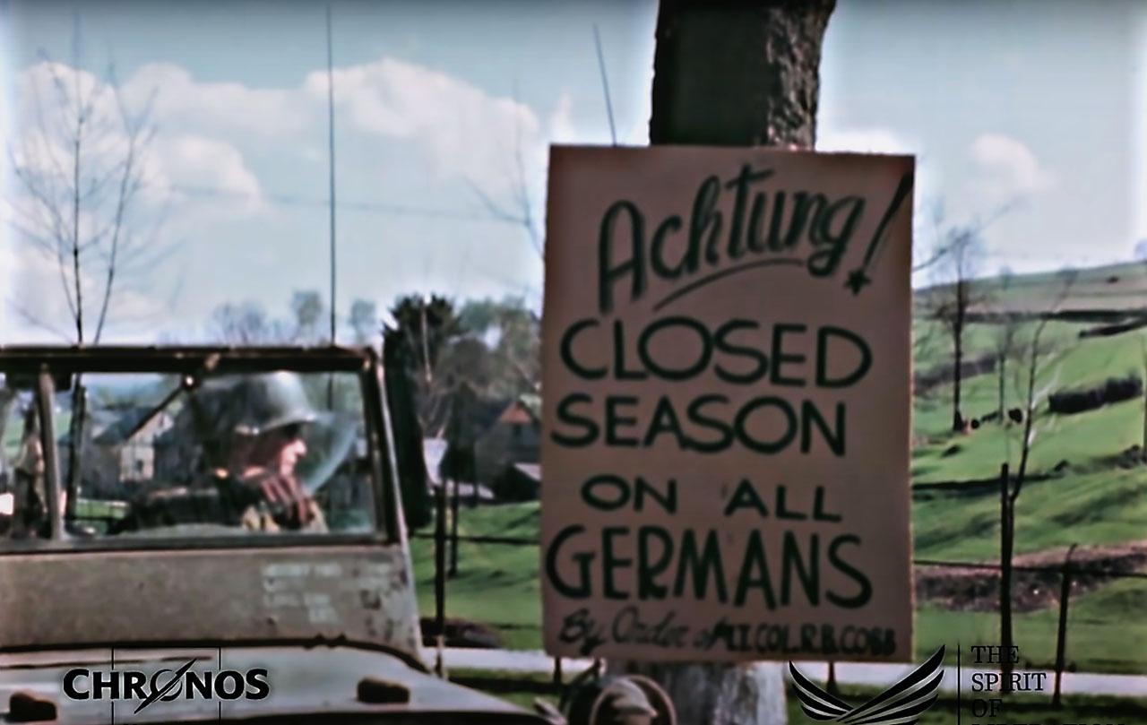 Сезон охоты на всех немцев закрыт.