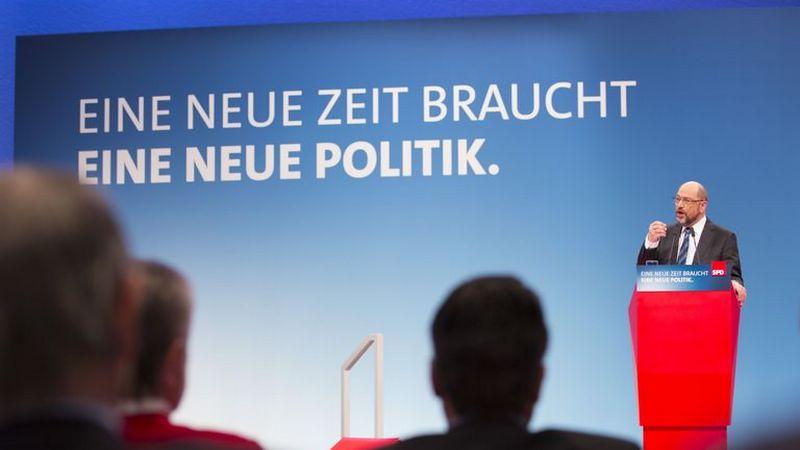 Лидер СДПГ Мартин Шульц на съезде партии.