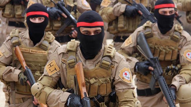 Бойцы курдских отрядов народной самообороны