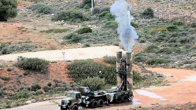 Первый тестовый запуск комплекса с-300 греческой армией в декабре 2013 года