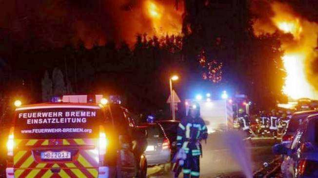 Взрыв на химзаводе под Бременом.