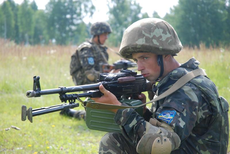Тренировка украинских военных на Яворовском военном полигоне