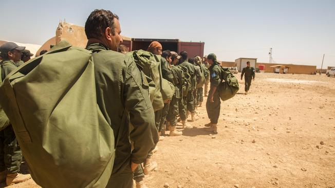 Тренировочный лагерь боевиков в Ракке