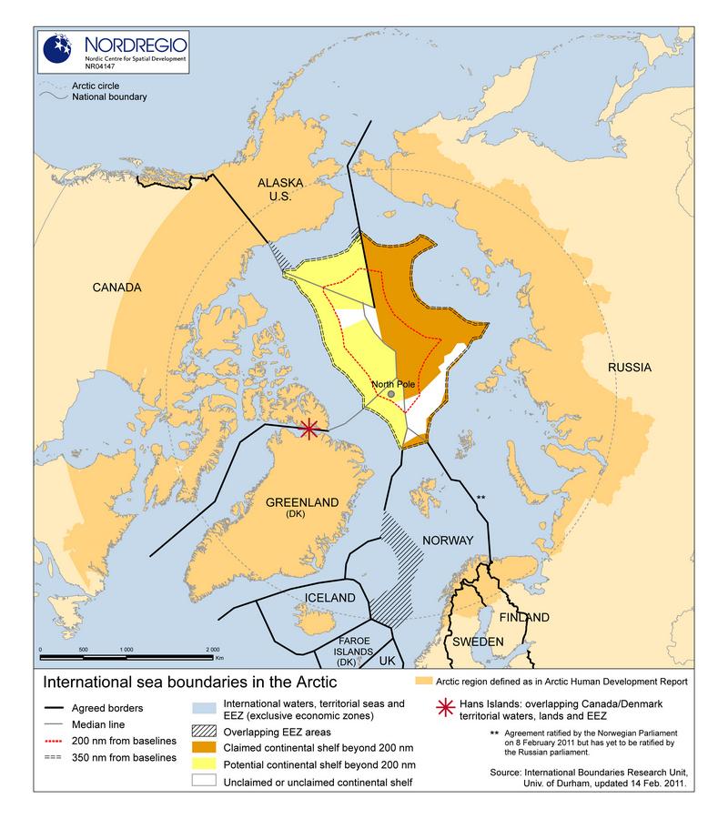 Международные морские границы в Арктике