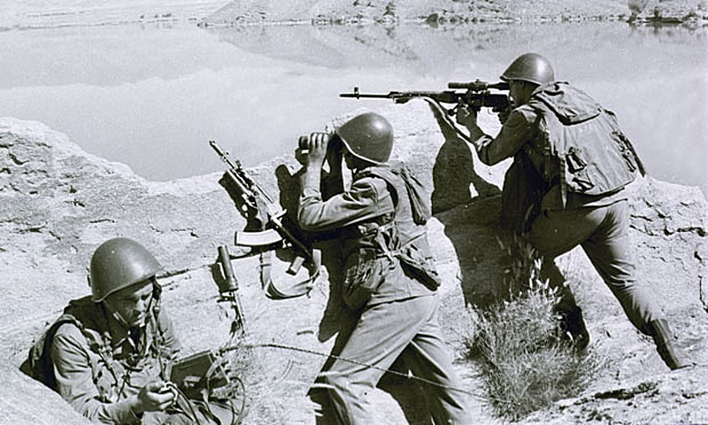 Десантники на блок-посту под Кабулом