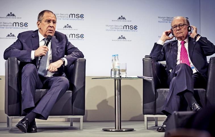 Глава форума Вольфганг Ишингер и министр иностранных дел РФ Сергей Лавров