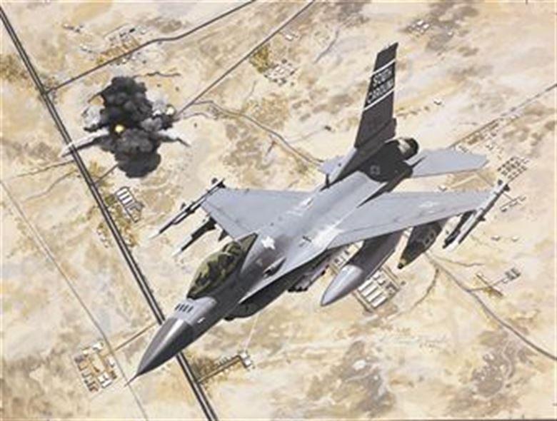 F-16 над Багдадом во время операции