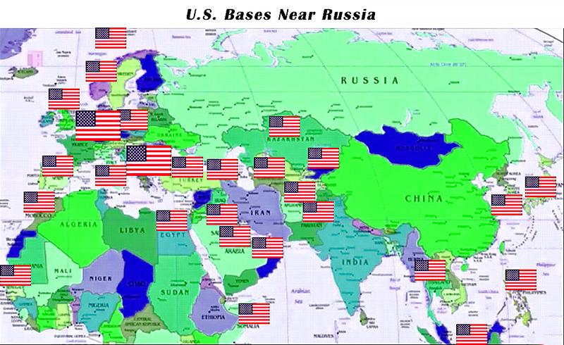 Карта американских баз вблизи России