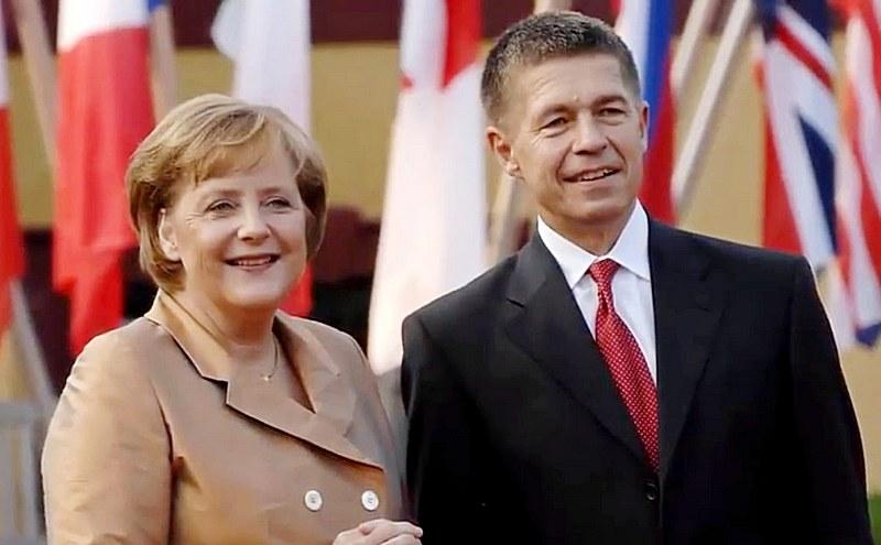 Ангела Меркель со своим мужем ученым-химиком Иоахимом Зауэром