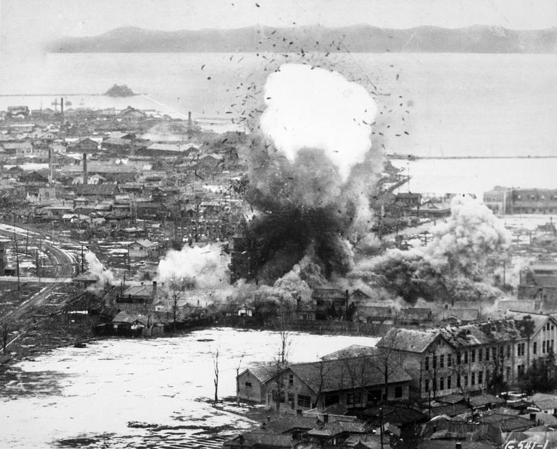 Бомбежка городов КНДР во время Корейской войны
