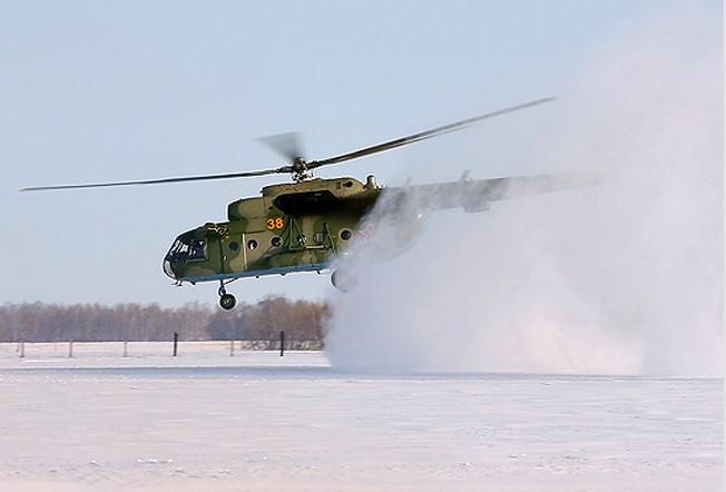 Вертолеты устанавливают минные поля с воздуха