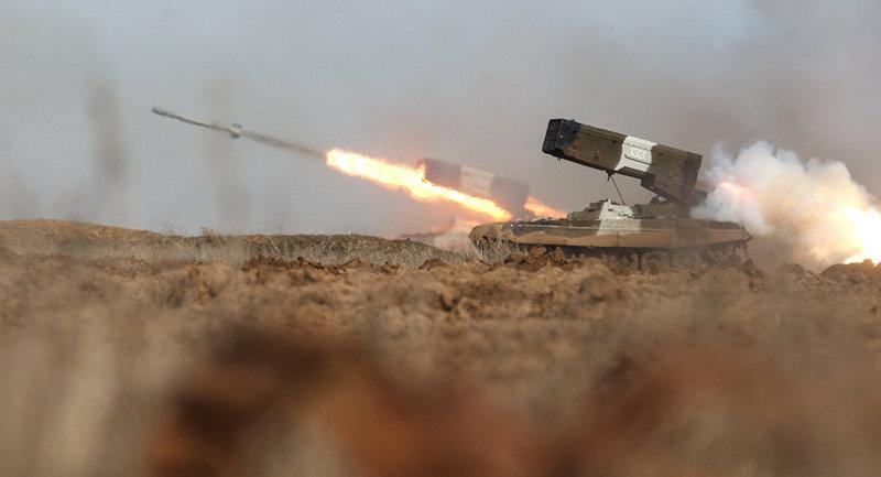Работа ТОС-1А «Солнцепек» в Сирии