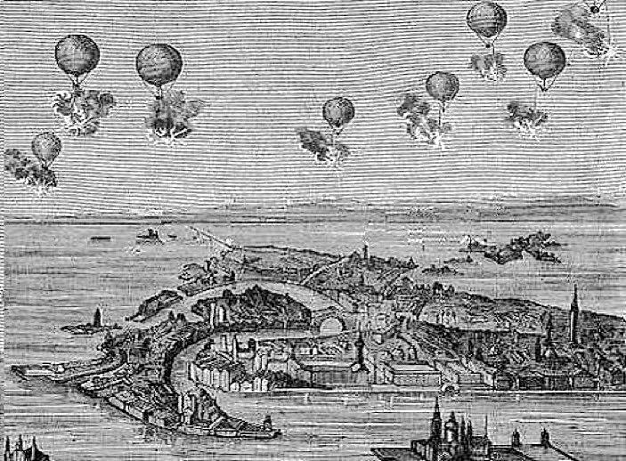 Аэростаты при осаде Венеции 1849 года
