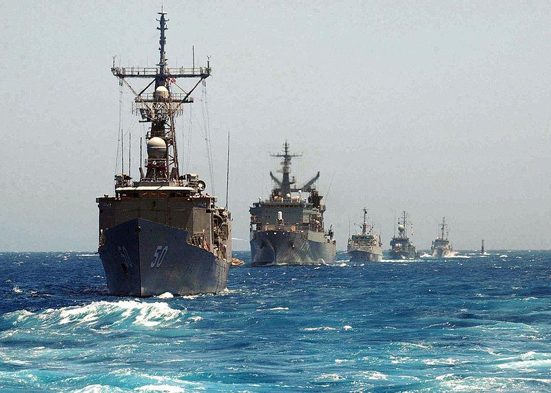 Американская эскадра в Северной атлантике