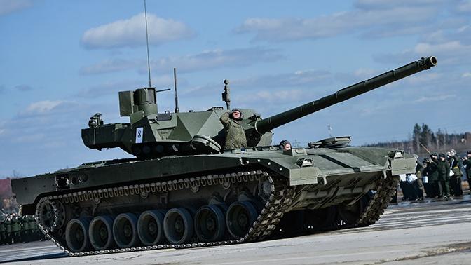 Танк Т-14 «Армата» получил противоскользящее покрытие