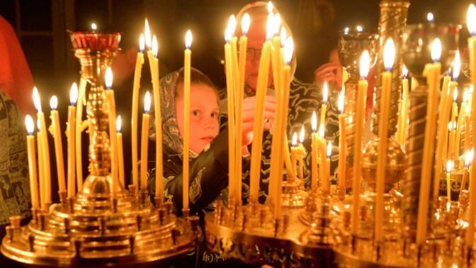 Православные верующие отмечают Вознесение Господне