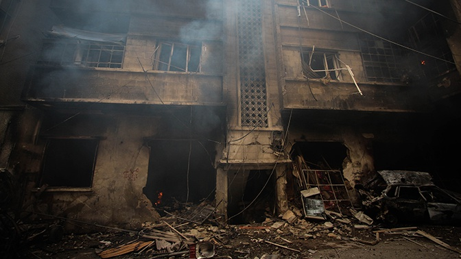 Двое мирных жителей погибли в результате обстрелов боевиков в Сирии