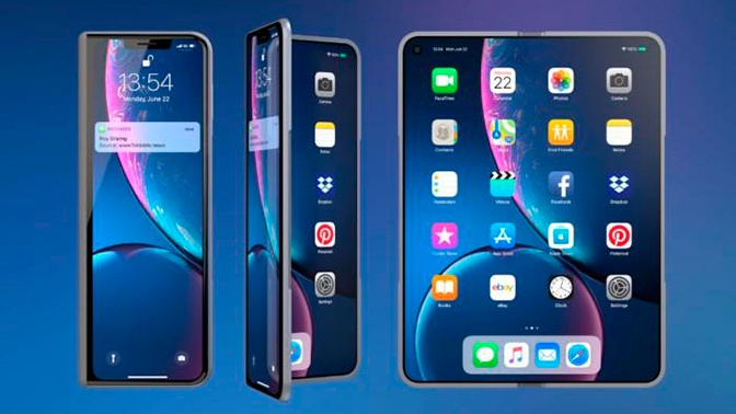 В Сети показали раскладной iPhone X Fold