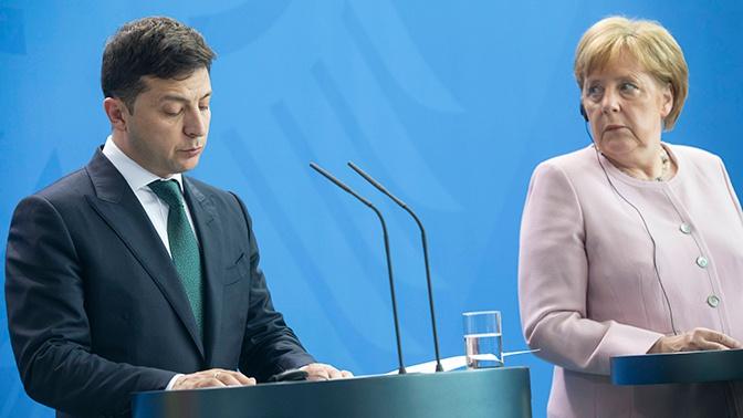 На Украине визит Зеленского в Германию и Францию посчитали провальным