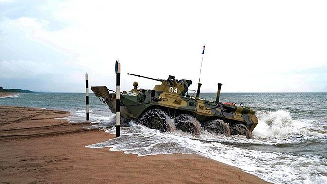 Морпехи ТОФ впервые выведут на плав БТР-82А