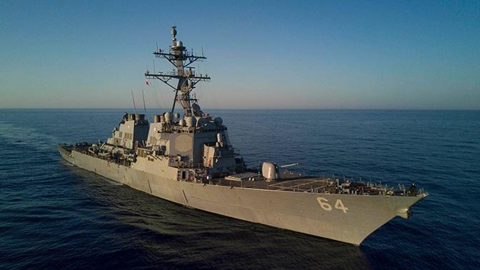 Американский эсминец и румынские корветы вошли в порт Одессы