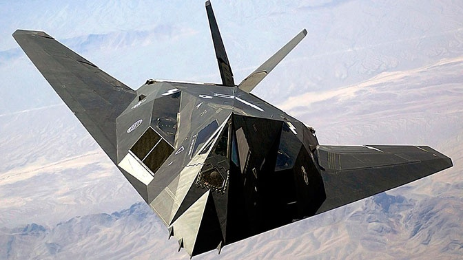 Загадочный F-117 был замечен в Долине Смерти