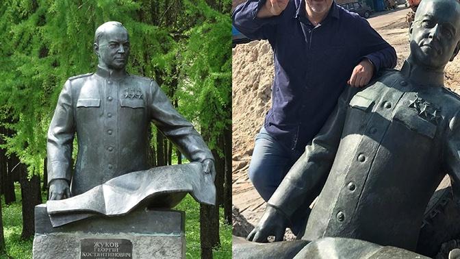 Националисты осквернили памятник Жукову под Киевом